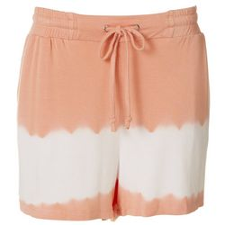 Tru Self Womens Tie Dye Drawstring Fabric Shorts
