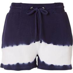 Tru Self Womens Tie Dye Drawstring Waist Shorts