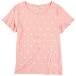 Workshop Womens Star Printed Short Sleeve Top