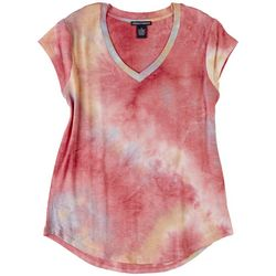 Chelsea & Theodore Womens Short Sleeve Tye Dye Top