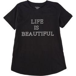 Workshop Womens Life Is Beautiful Short Sleeve Shirt