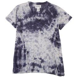 Flora & Sage Womens Tye Dye Short Sleeve Tshirt