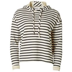 For The Republic Womens Striped Long Sleeve Hoodie