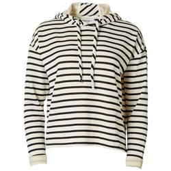 Womens Striped Long Sleeve Hoodie