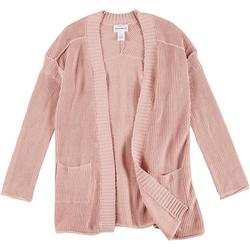 Womens Solid Open Cardigan