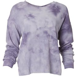For The Republic Womens Tie Dye Long Sleeve Top
