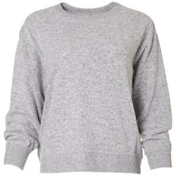 For The Republic Womens Hacci Heathered Long Sleeve Top