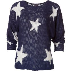 Chelsea & Theodore Womens Long Sleeve Star Sweater