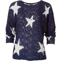 Womens Long Sleeve Star Sweater
