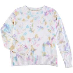 Womens Tie Dye Printed Sweater