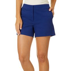 Dept 222 Womens Solid Twill Shorts