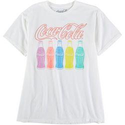 Coca-Cola Logo Womans Rainbow Bottles Graphic T-Shirt