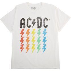 AC/DC Womens Rainbow Lightning Graphic T-Shirt