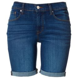 Kensie Jeans Womens Roll Cuff Denim Shorts