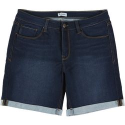 Kensie Jeans Womens Roll Cuff Denim Shorts