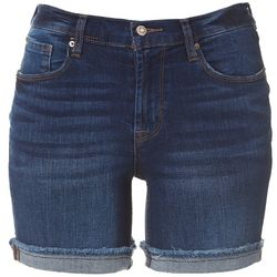 Kensie Womens Single Roll Cuff Denim Shorts