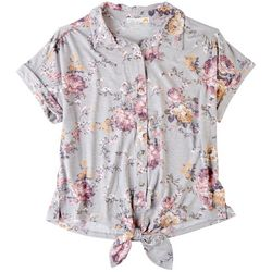 C&C California Womens Floral Buttoned Shirt