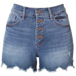 Habitual Womens 4-Button Alana Shorts