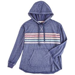 C&C California Womans Striped Hooded Jacket