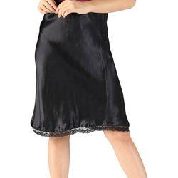 Sky & Sand Womens Solid Crochet Trim Pull-On Skirt