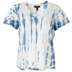 Jessica Simpson Womens Tie Dye V-Neck Top