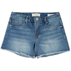 Jessica Simpson Womens Denim Frayed Hem Shorts