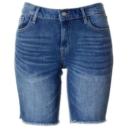 Sanctuary Womens Fray Hem Denim Bermuda Shorts