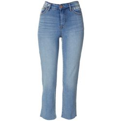 Sanctuary Womens Denim Daisy Embroidered Crop Jeans