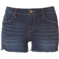 Womens Denim Frayed Shorts