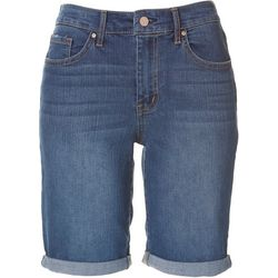 Jessica Simpson Rolled Cuff Denim Midi Shorts