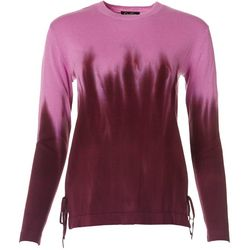 Jessica Simpson Womens Tie Dye Ombre Long Sleeve Top