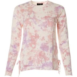Jessica Simpson Womens Tie Dye Long Sleeve Top