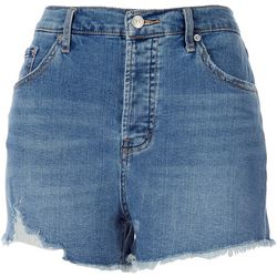 Jessica Simpson Womens Soft Frayed High Waist Denim Shorts