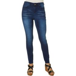 Earl Jean Womens Womens Skinny Ankle Soft Whiskered Jeans