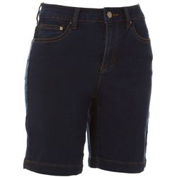Dept 222 Womens Solid Denim Shorts