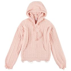 Womens Cozy Knit Hooded Sweater