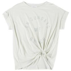 Gilli Womens Tie Front Graphic T-Shirt