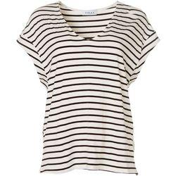 Gilli Womens V-Neck Striped T-Shirt