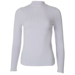 Gilli Womens Solid Ribbed Long Sleeve Top