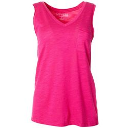 Dept 222 Womens V-Neck Luxey Tank Top