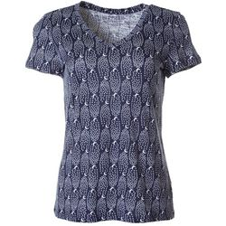 Dept 222 Womens Night Sky Print V-Neck T-Shirt