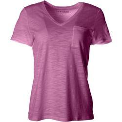 Dept 222 Womens Luxey V-Neck Chest Pocket T-Shirt