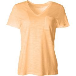 Dept 222 Womens Luxey V-Neck Chest Pocket T-Shirt