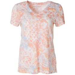 Dept 222 Womens Printed Luxey V-Neck Shirt