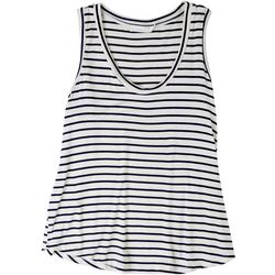 Lush Womens Stripe Sleeveless Tank