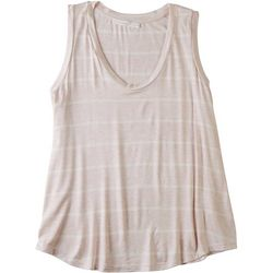 Lush Womens Striped Sleeveless Tank