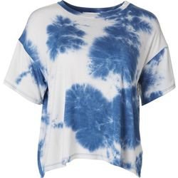 Lush Womens Cloudy Short Sleeve Top