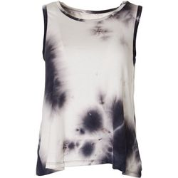 Lush Womens Tie Dye Sleeveless Tank