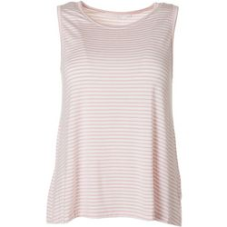 Lush Womens Striped Flowy Sleeveless Top