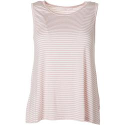 Womens Striped Flowy Sleeveless Top